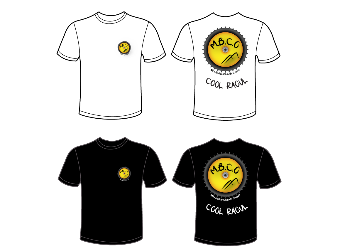 Création graphique pour le club: T-shirt, bâche, enjoliveur MBCO-Tshirt
